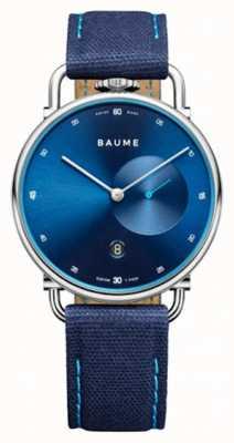 Baume & Mercier ボーム|環境にやさしいクォーツ|ブルーダイヤル|ブルーコルクバックストラップ M0A10601