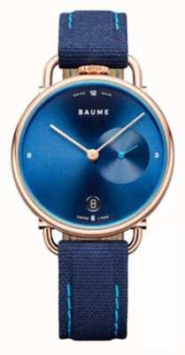Baume & Mercier ボーム|環境にやさしいクォーツ|ブルーコルクバックストラップ M0A10603