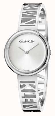 Calvin Klein マニア|ステンレス鋼のブレスレット|シルバーダイヤル|サイズm KBK2M116