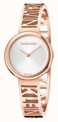 Calvin Klein マニア|ローズゴールドPVD鋼|シルバーダイヤル|サイズm KBK2M616