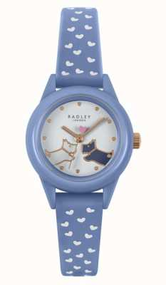 Radley 見て! |女性用ブルーシリコンストラップ|白い文字盤 RY21260