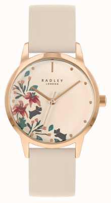 Radley 女性用ヌードレザーストラップ|ヌードフローラルダイヤル RY21260A
