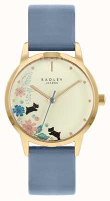 Radley 女性用ブルーレザーストラップ|シャンパンダイヤル RY21230A