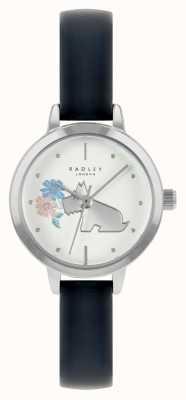 Radley 女性用ブルーレザーストラップ|白い文字盤 RY21237A