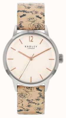 Radley |レディース|ベージュ柄レザーストラップ|白い文字盤| RY21245A