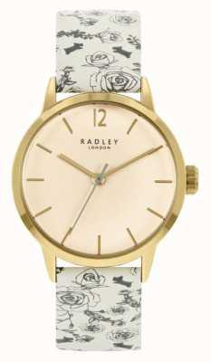 Radley レディースクリーム柄レザーストラップ|クリームダイヤル RY21248A