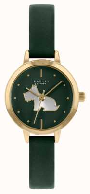 Radley 女性用グリーンレザーストラップ|緑の文字盤 RY21256A