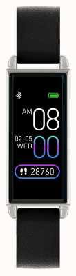 Reflex Active シリーズ2スマートウォッチ|カラータッチスクリーン|ブラックレザーストラップ RA02-2007