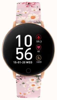 Reflex Active シリーズ5スマートウォッチ|時間モニター|カラータッチスクリーン|ピンクのストラップ RA05-2062