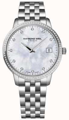 Raymond Weil トッカータ|パールダイヤモンドダイヤルの女性の母| 5388-STS-97081