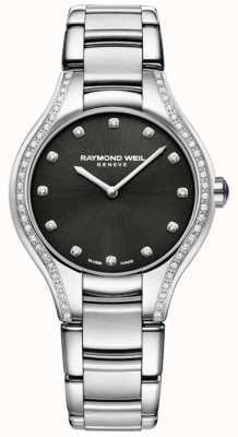 Raymond Weil ノエミア|女性のステンレス鋼のブレスレット|ダイヤモンドダイヤル 5132-STS-20081