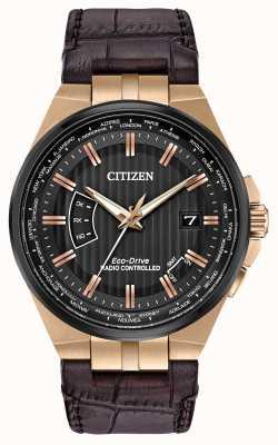 Citizen パーペチュアルメンズワールド|ブラウンレザーストラップ CB0168-08E