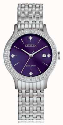 Citizen 女性用エコドライブクリスタルケース FE1200-51L