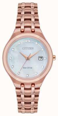 Citizen 女性用エコドライブダイヤモンドダイヤル EW2489-54D