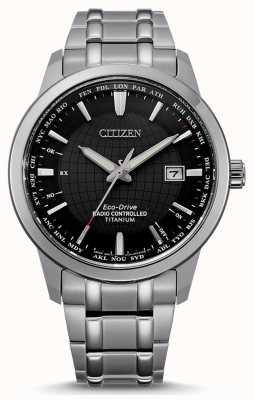 Citizen メンズエコドライブラジオコントロールワールドパーペチュアル CB0190-84E