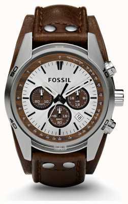 Fossil メンズスポーツクロノグラフブラウンレザーストラップウォッチ CH2565