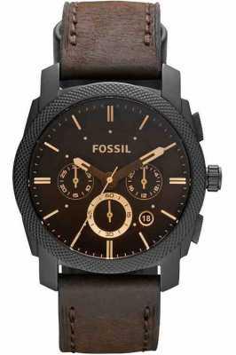 Fossil メンズマシンクロノグラフ茶色の腕時計 FS4656