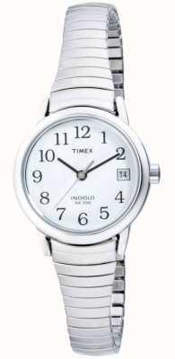 Timex レディースステンレススチール製拡張式時計 T2H371